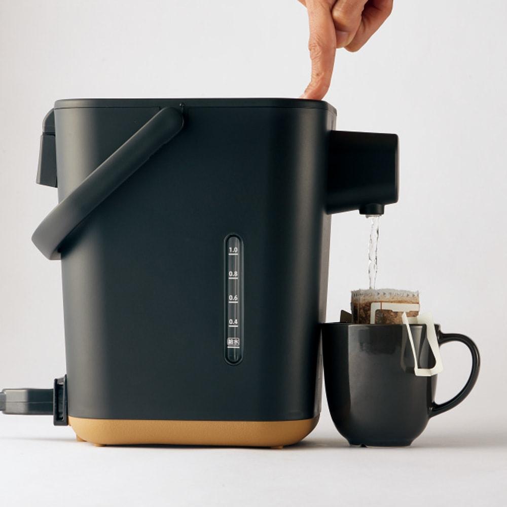 象印 STAN. /スタン 電気ポット お湯が飛び散りにくく少量ずつ注げるゆっくりカフェドリップ給湯