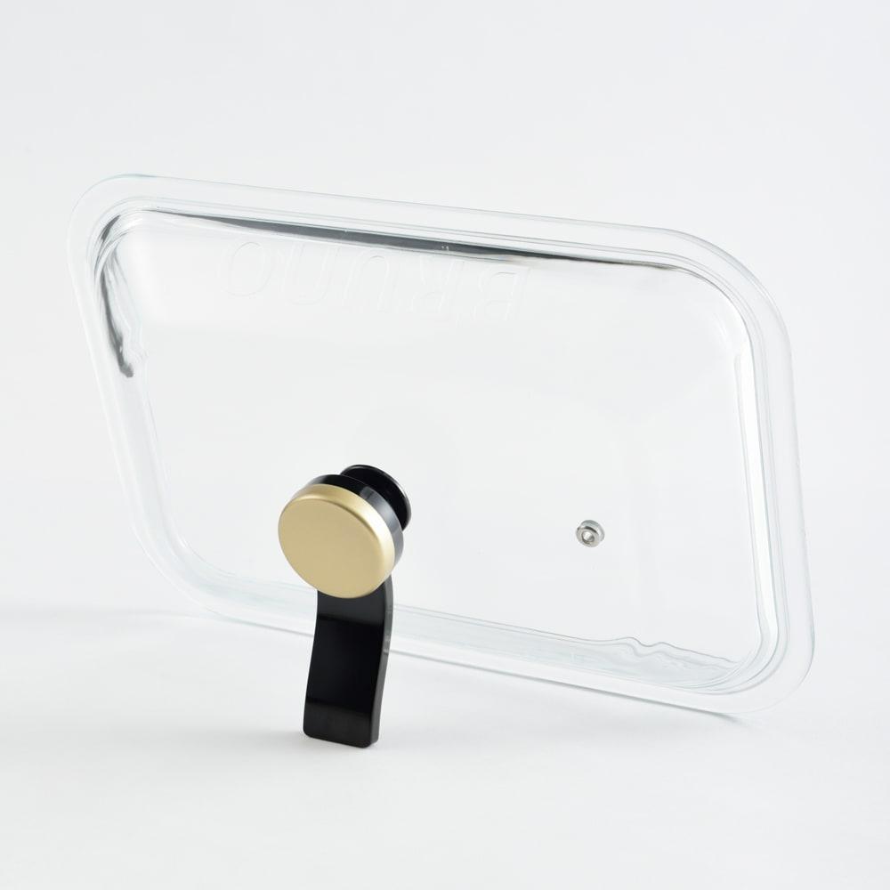 BRUNO/ブルーノ コンパクトホットプレート用ガラスフタ 取っ手はそのままスタンドになります