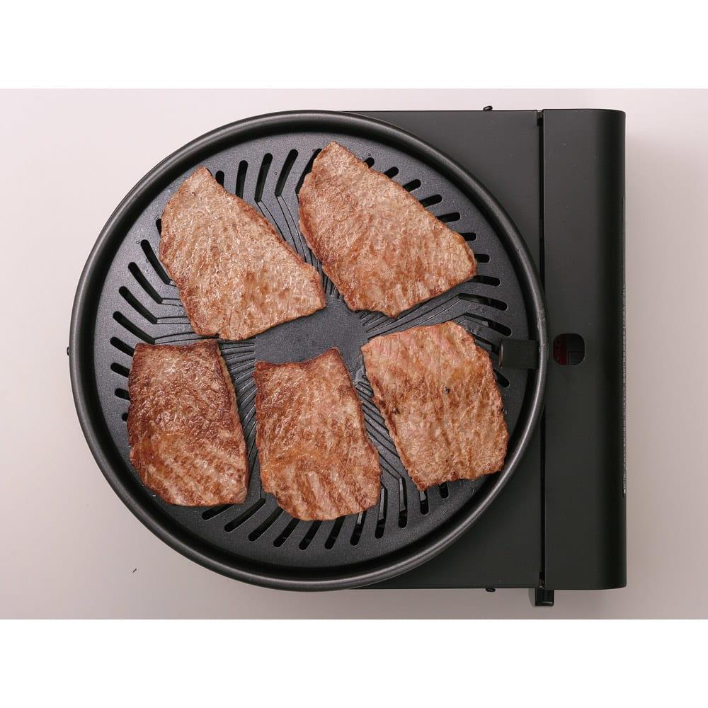 イワタニ マルチスモークレスグリル 自宅で焼き肉三昧! ガス火ならではのコンガリな焼き上がり!