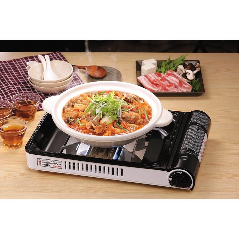 Iwatani 岩谷産業 焼き上手さん アルファ α プレートを外せばお鍋もできます!