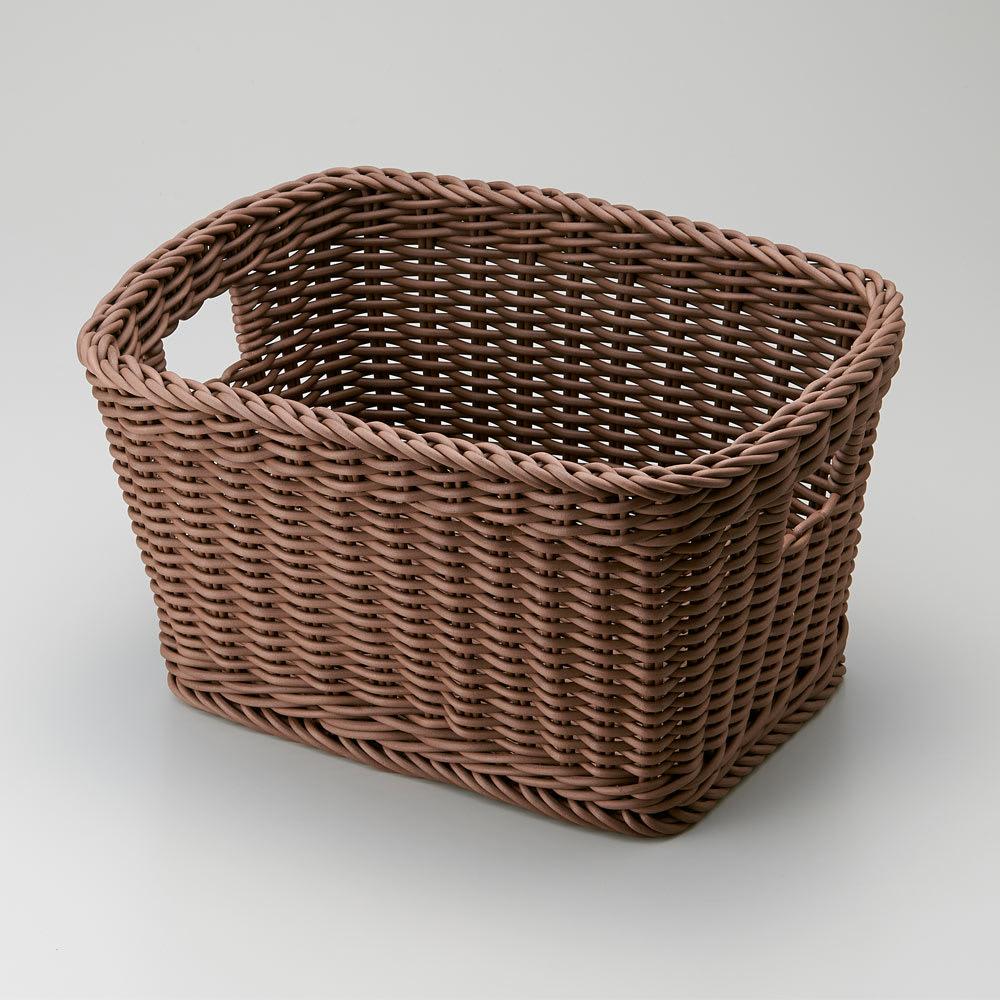 洗えるバスケットM (イ)ダークブラウン