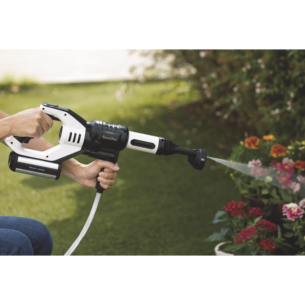 ポータブル コードレス洗浄機KB007 庭の草花への水やりに