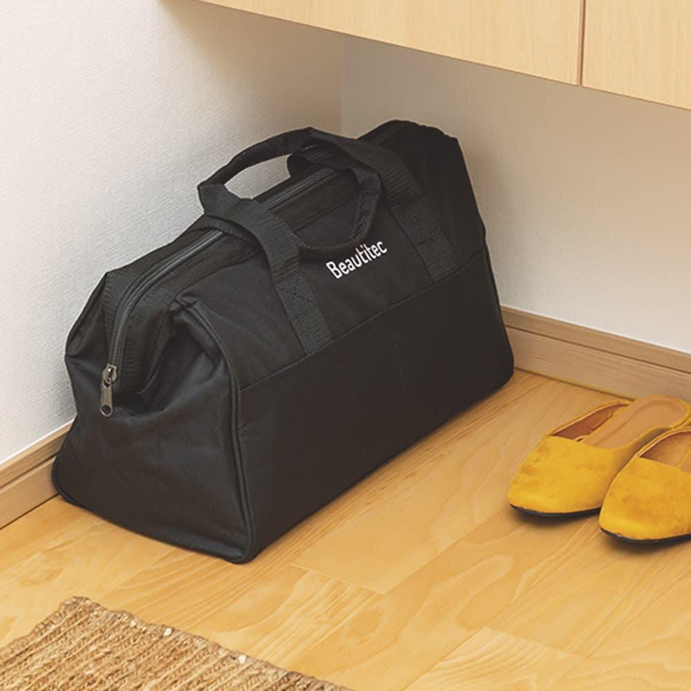 ポータブル コードレス洗浄機KB007 持ち運びに便利な専用収納バッグが付いています。いつでもどこにでも持ち運びできます。