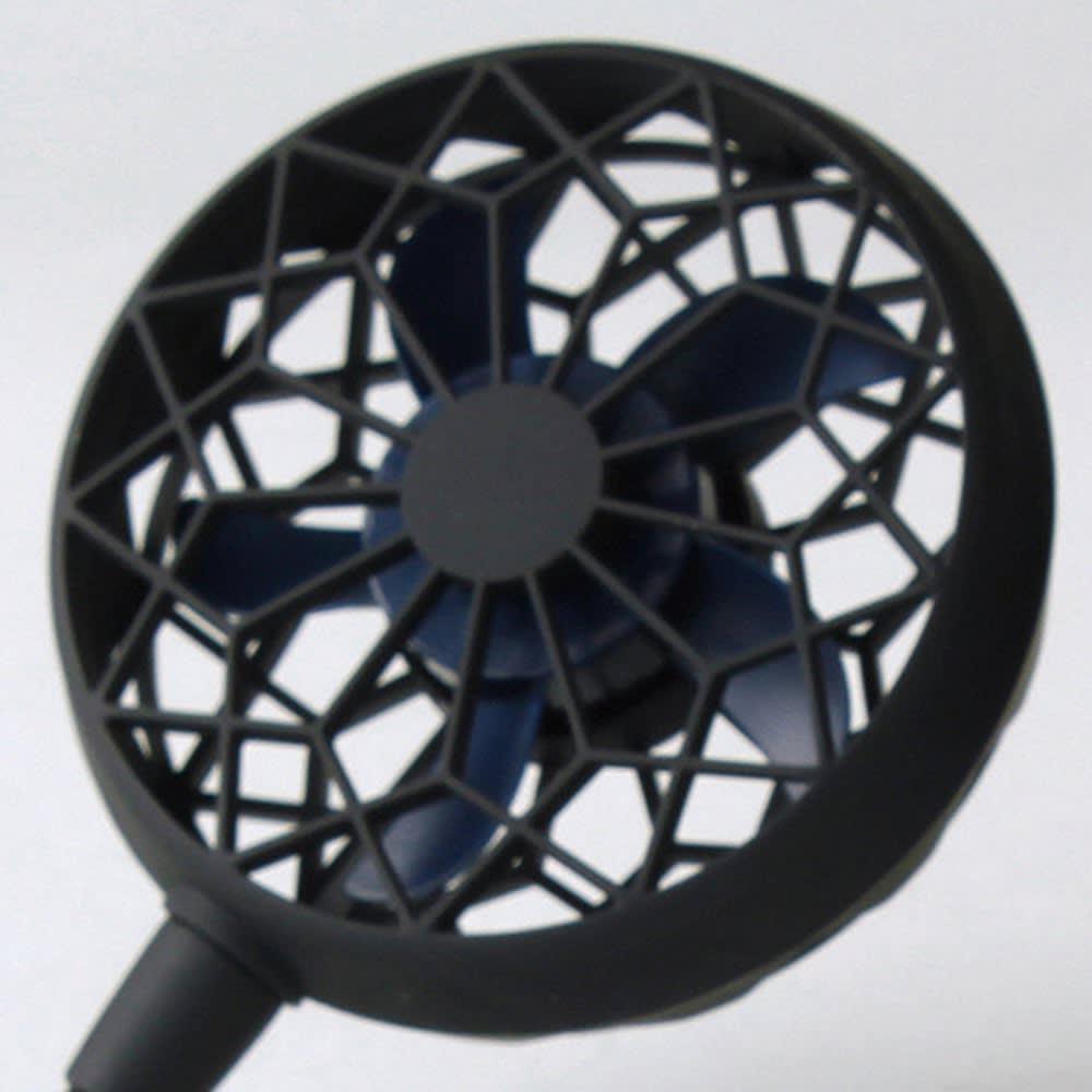 首にかける扇風機「Wファン Ver2」 静音性を追求した新設計5枚羽根。