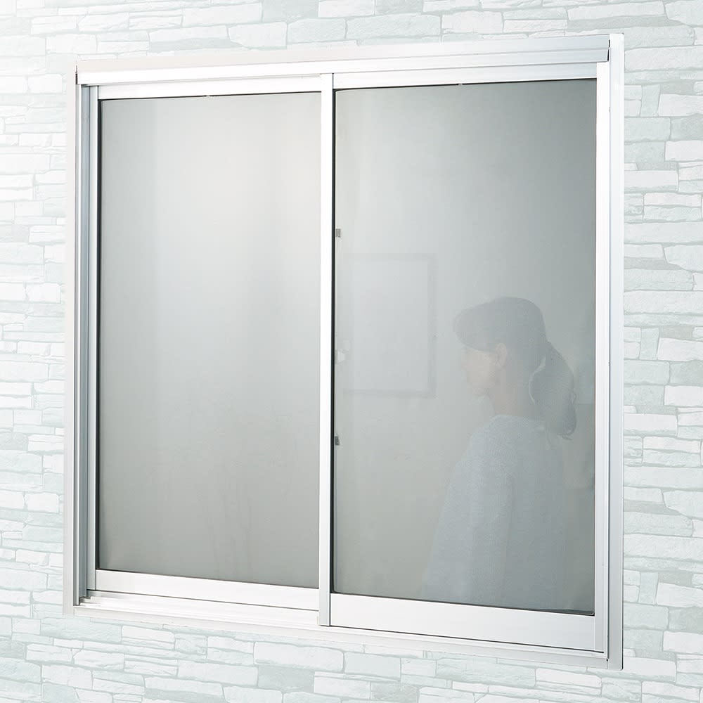 遮熱クールアップ 8枚組 [After] 日中、外から部屋の中が丸見えの窓も、貼るだけで目隠し効果も!