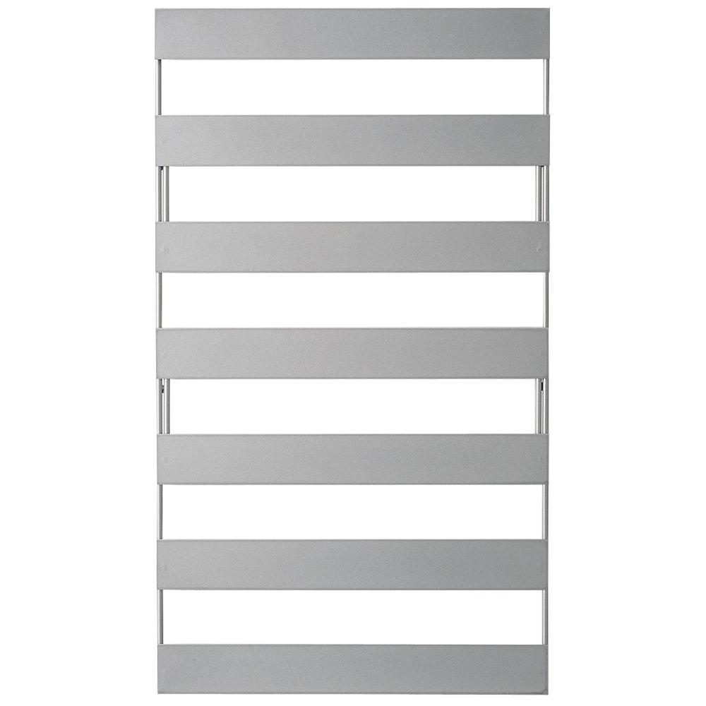 逆ルーバー室外機カバー サイドパネル2枚組 シルバー(長) 長×1、短×1の2枚組でお届け。