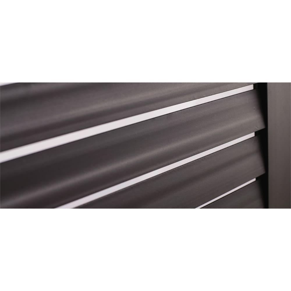 ルーバーストッカー 深型ベンチタイプ 幅114cm 前面は風通しの良いルーバー式。