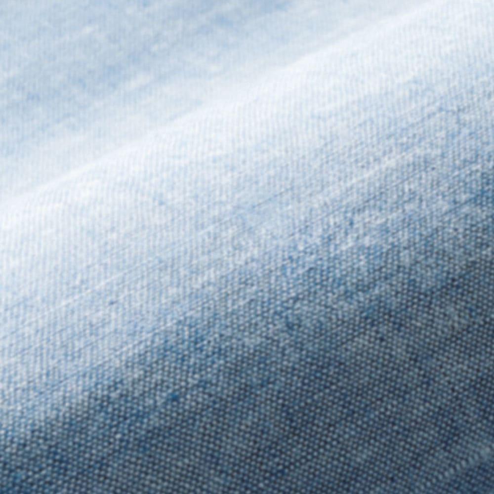 洗えるふんわりリネンシリーズ ピローパッド同色2枚組 グレイッシュでトレンド感のある新色ブルーは、涼しげな夏色カラーでリネンの風合いにもぴったり。