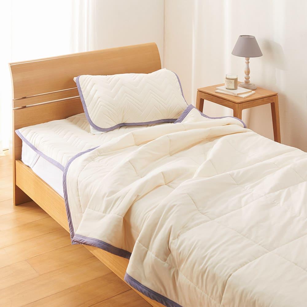 西川×ディノス クールコットン寝具シリーズ 肌掛けケット (ア)アイボリー