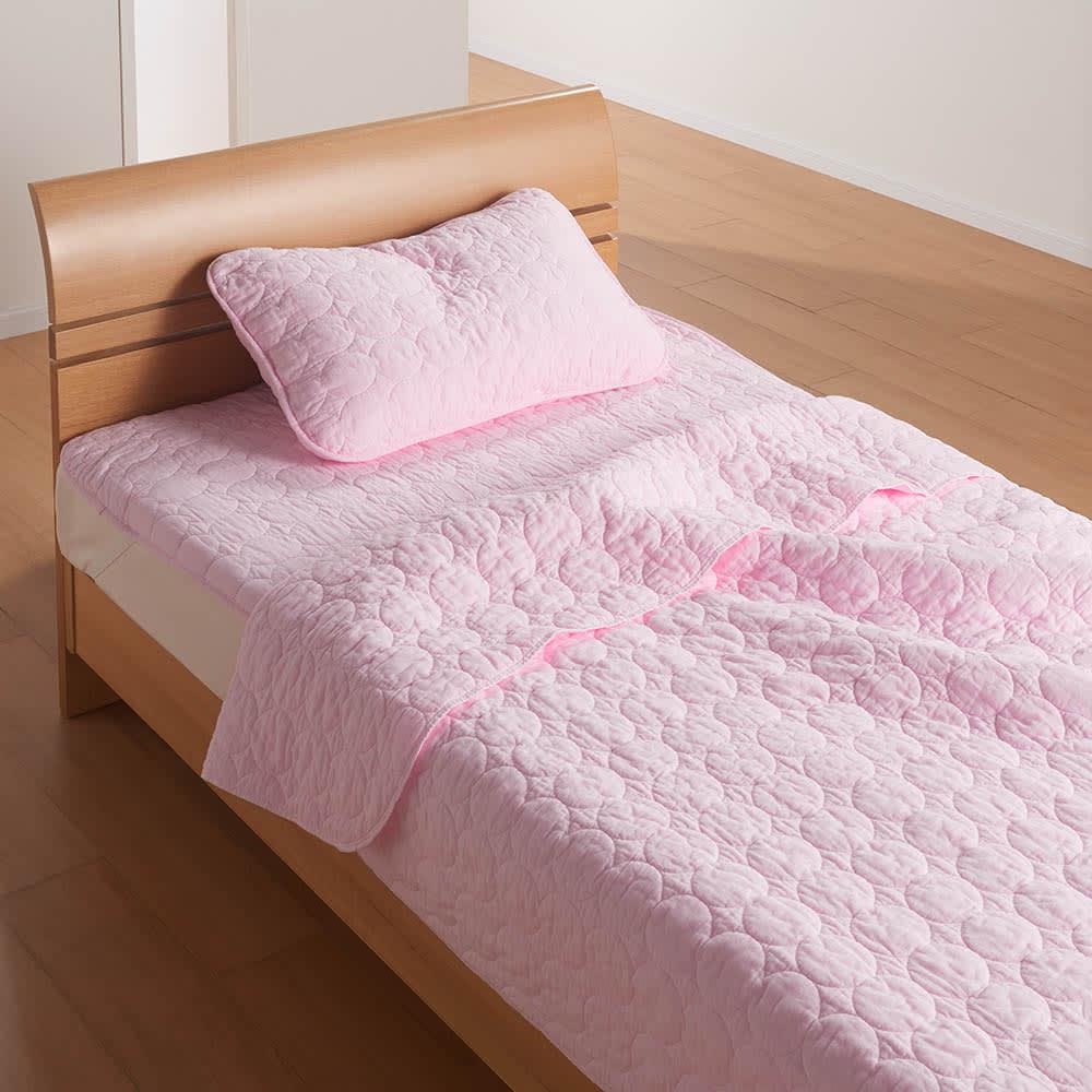 パシーマ(R)EXプラス パッドシーツ (ウ)ピンク シリーズ使用例 ※お届けはパッドシーツです