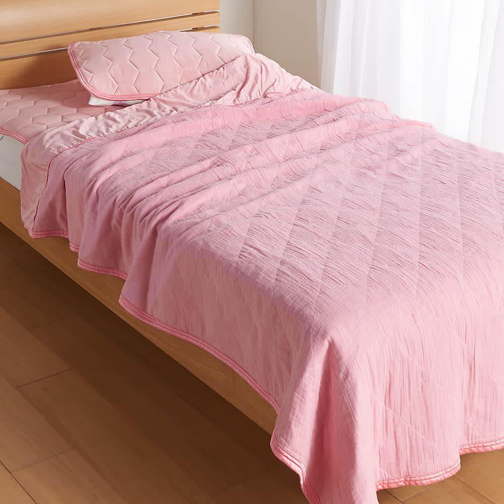 クイーン4点(ひんやり除湿寝具 デオアイスネオシリーズ お得な掛け敷きセット(ピローパッド付)) 774113