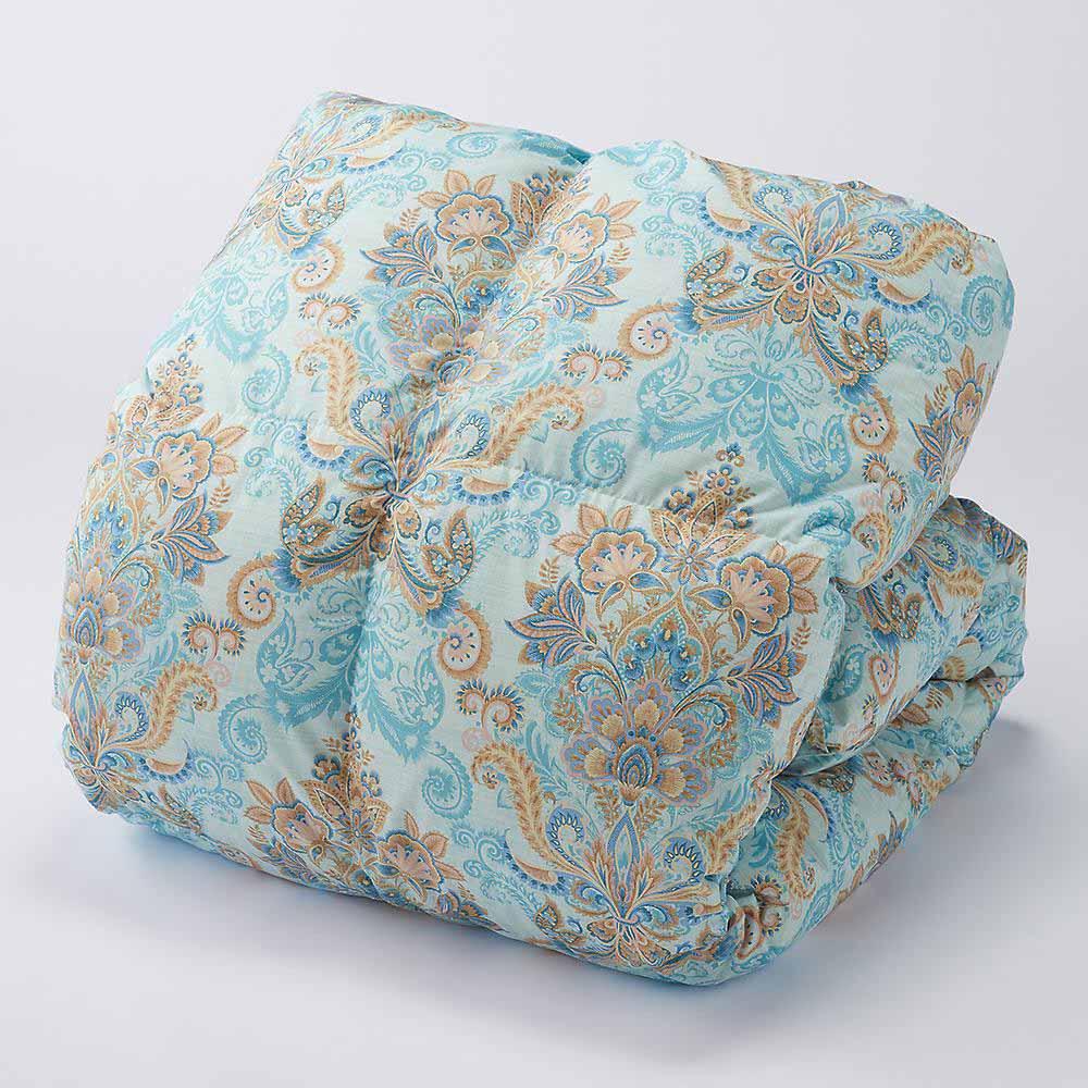 季節外れだから安い!フランス産5つ星羽毛布団 (ア)ブルー系