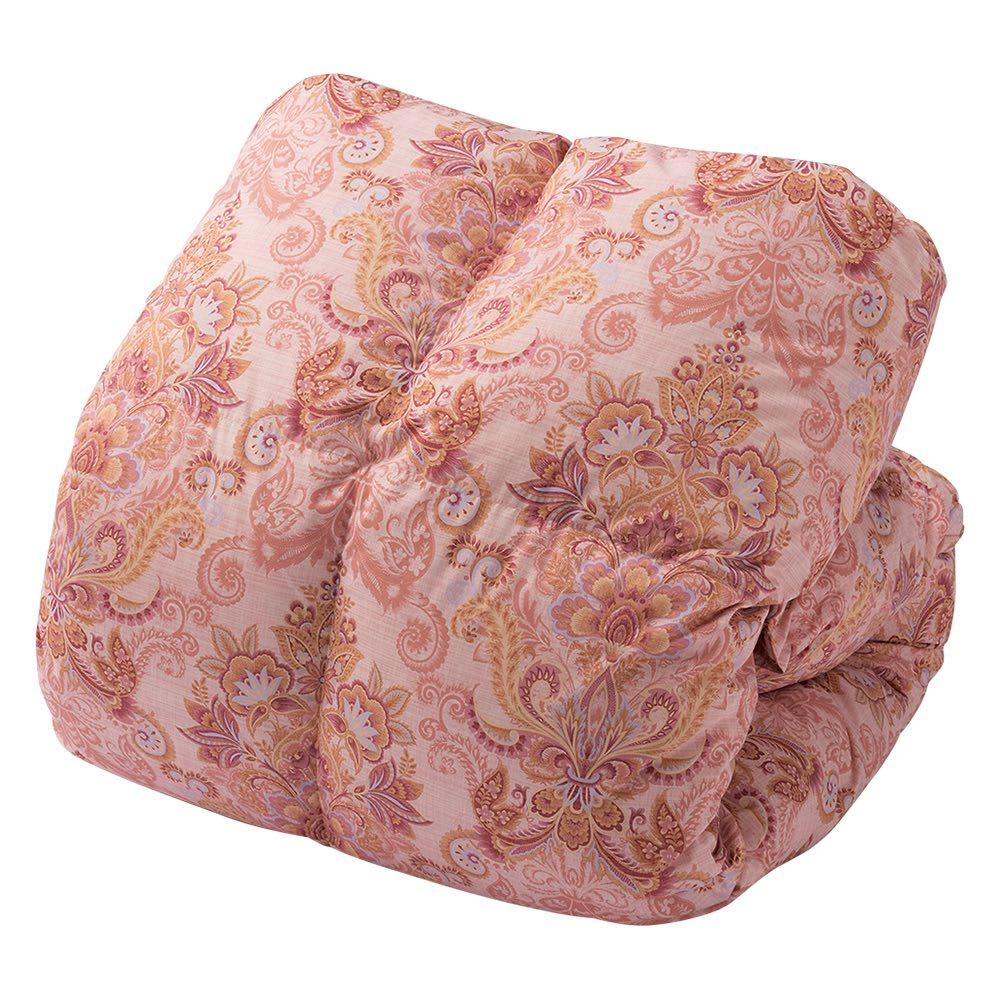 季節外れだから安い!フランス産5つ星羽毛布団 お得なシングル2枚組 (イ)ピンク系