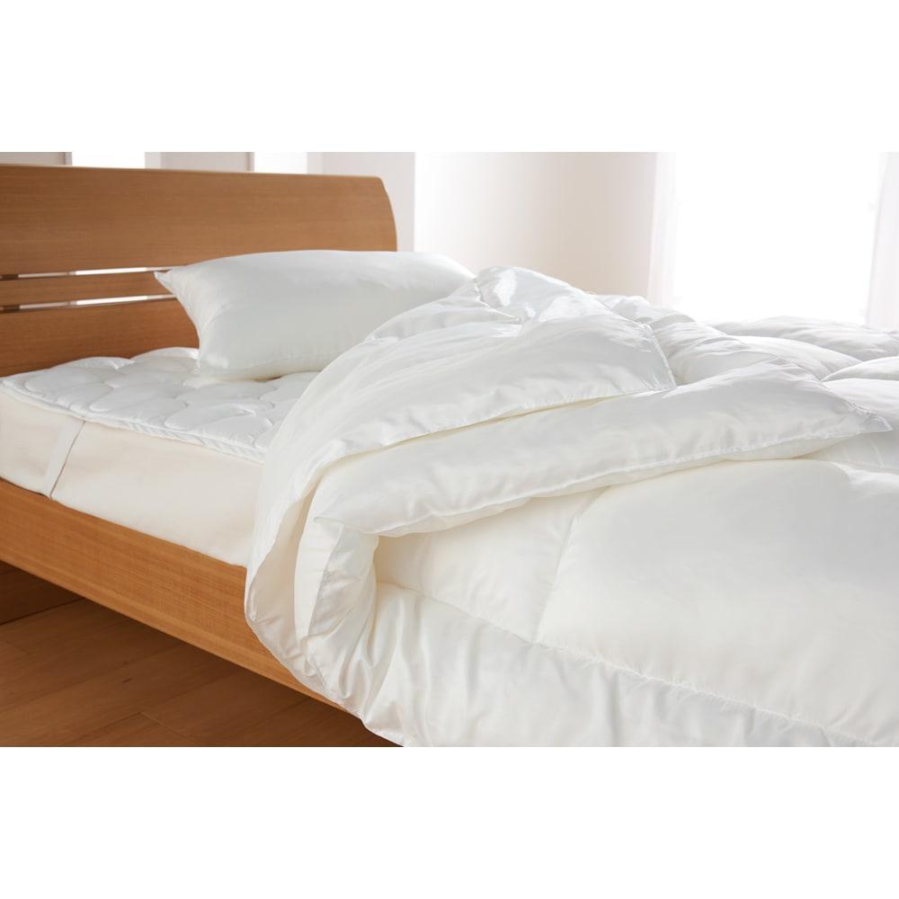 ミクロガード(R)プレミアム布団シリーズ 洗える2枚合わせ掛け布団 寝具を考えることは、健康を考えること。実感できるハウスダスト対策を