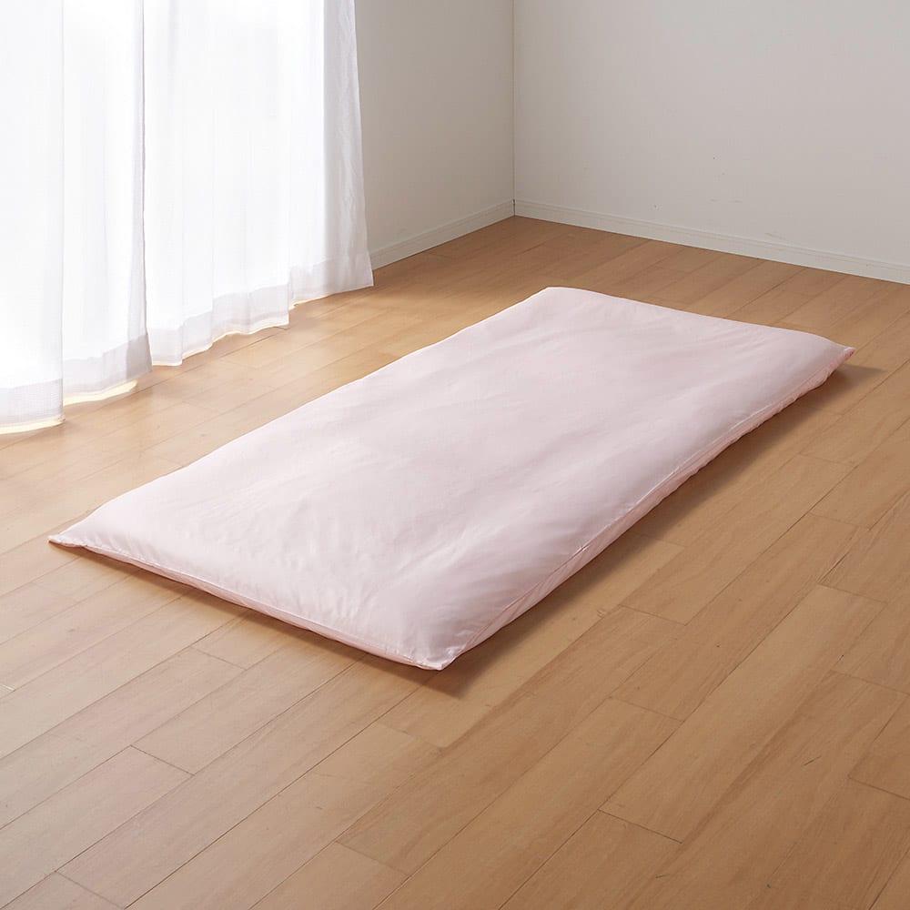 ミクロガード(R)プレミアムシーツ&カバーシリーズ 敷布団カバー 2段ベッド用 (ア)ピンク