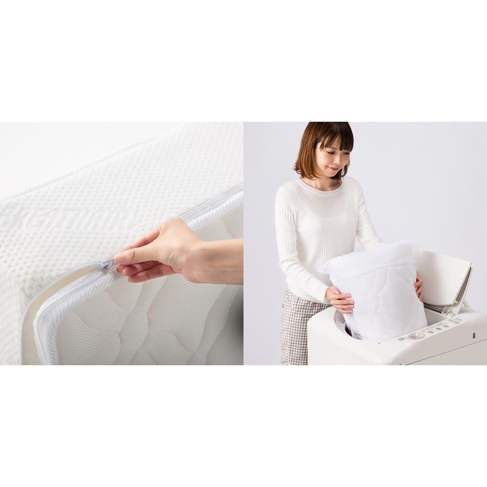 上質な眠りへと誘うブレスエアー(R)リュクス マットレス 側カバーはファスナー式で取り外して丸洗い可。
