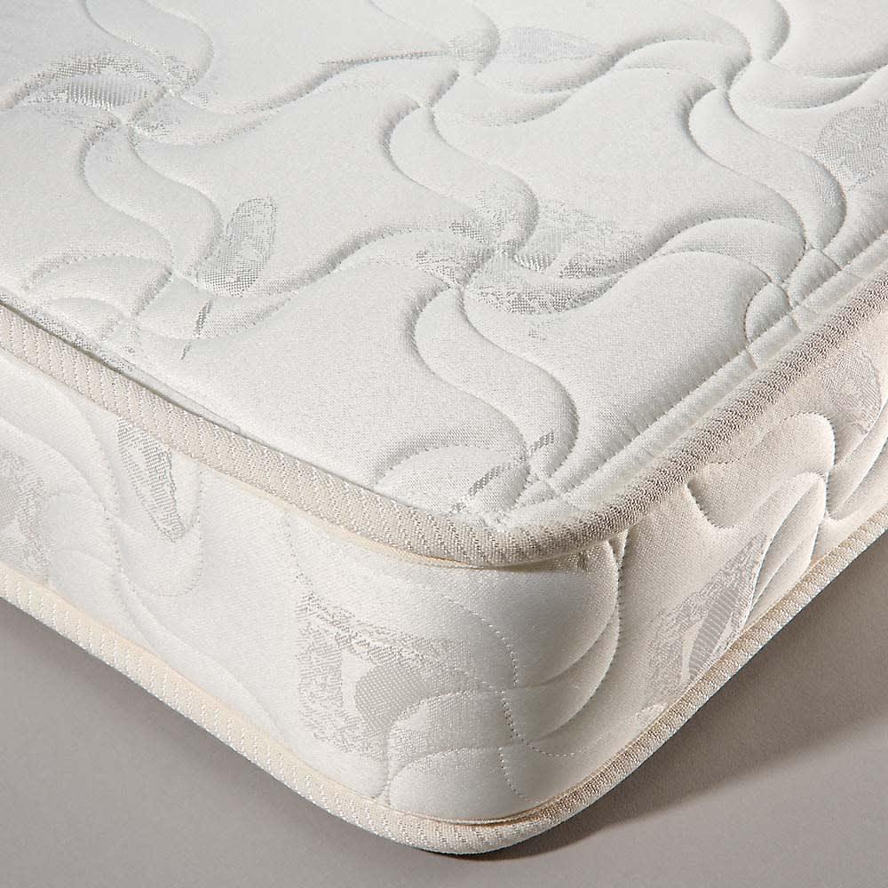 ガス圧横開きベッド(国産ポケットコイルマットレス付き) 寝心地にこだわった国産のポケットコイルマットレス