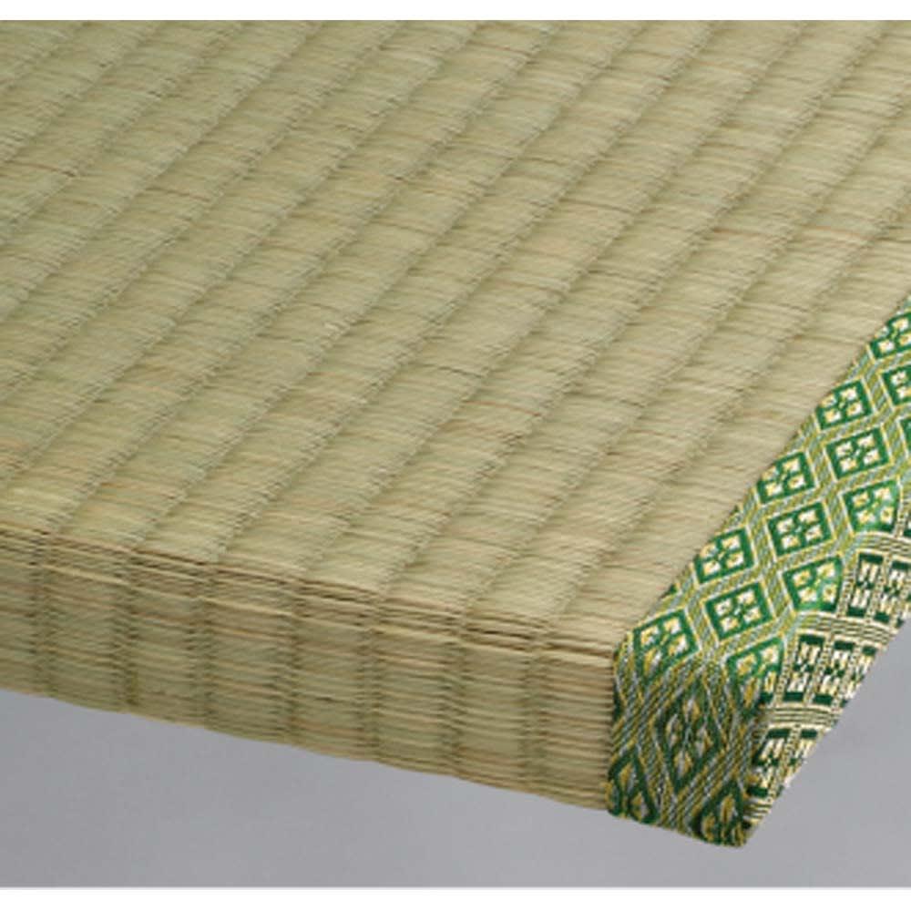 絨毯のような長いモノも収納できる!跳ね上げ式収納畳ベッド ヘッドレスタイプ(高さ41cm) 畳部分