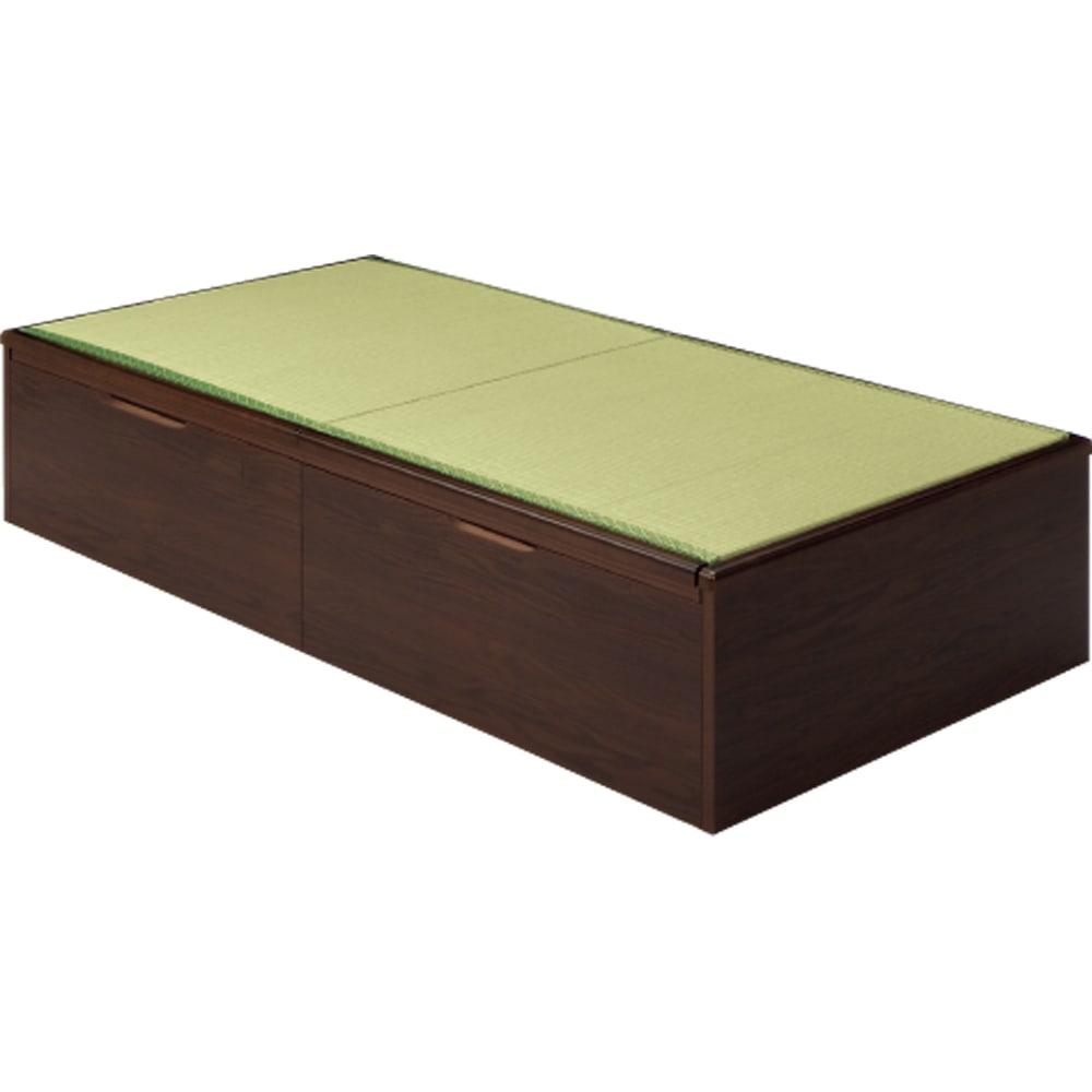 絨毯のような長いモノも収納できる!跳ね上げ式収納畳ベッド ヘッドレスタイプ(高さ41cm) ※写真はセミダブルです。