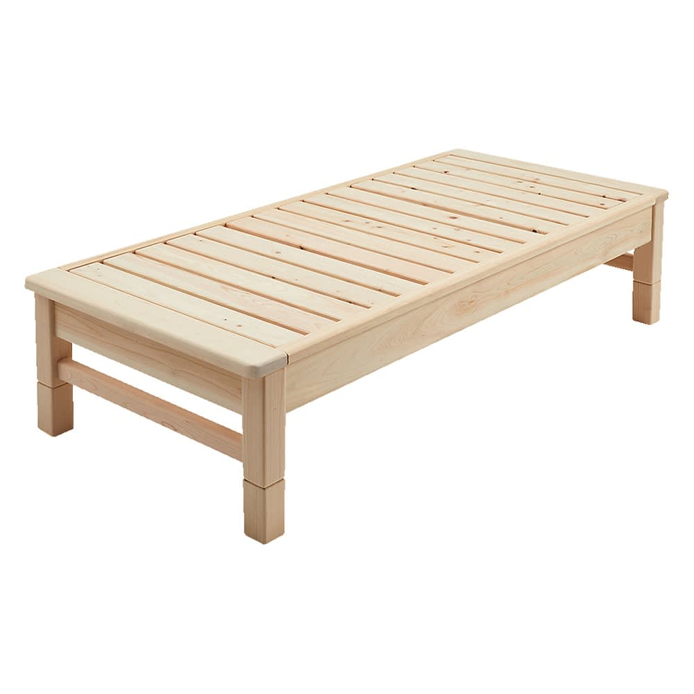 東濃檜 高さ調節すのこベッド 長さ180cm(幅80cm/幅98cm) ※写真は幅80長さ180cmです。