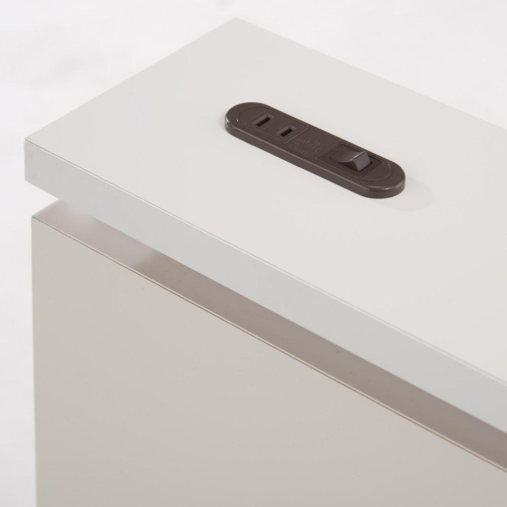 照明付きステージすのこベッド マットレス付き(国産ポケットコイルマットレス付き) コンセント口付き