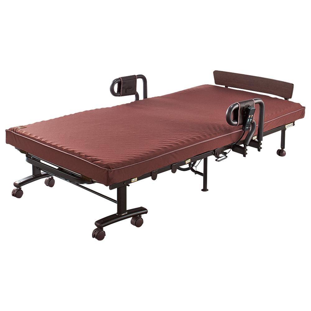 継ぎ目のないマットレスの収納式折りたたみ電動ベッド カバー付き (※写真はカバーなしの状態)
