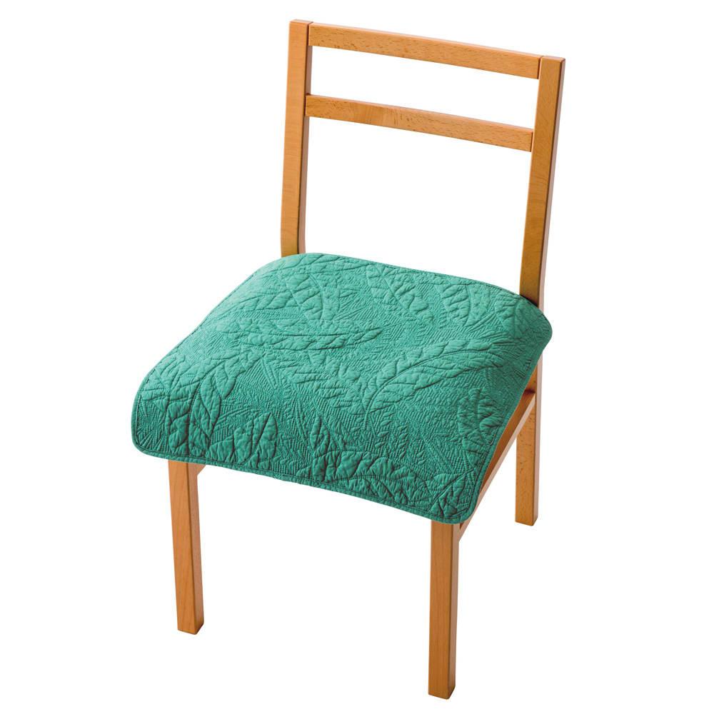 バナナリーフキルトカバーシリーズ 座面シート 1人掛用 (イ)グリーン ※写真は約52×52cm(1人掛用)です。