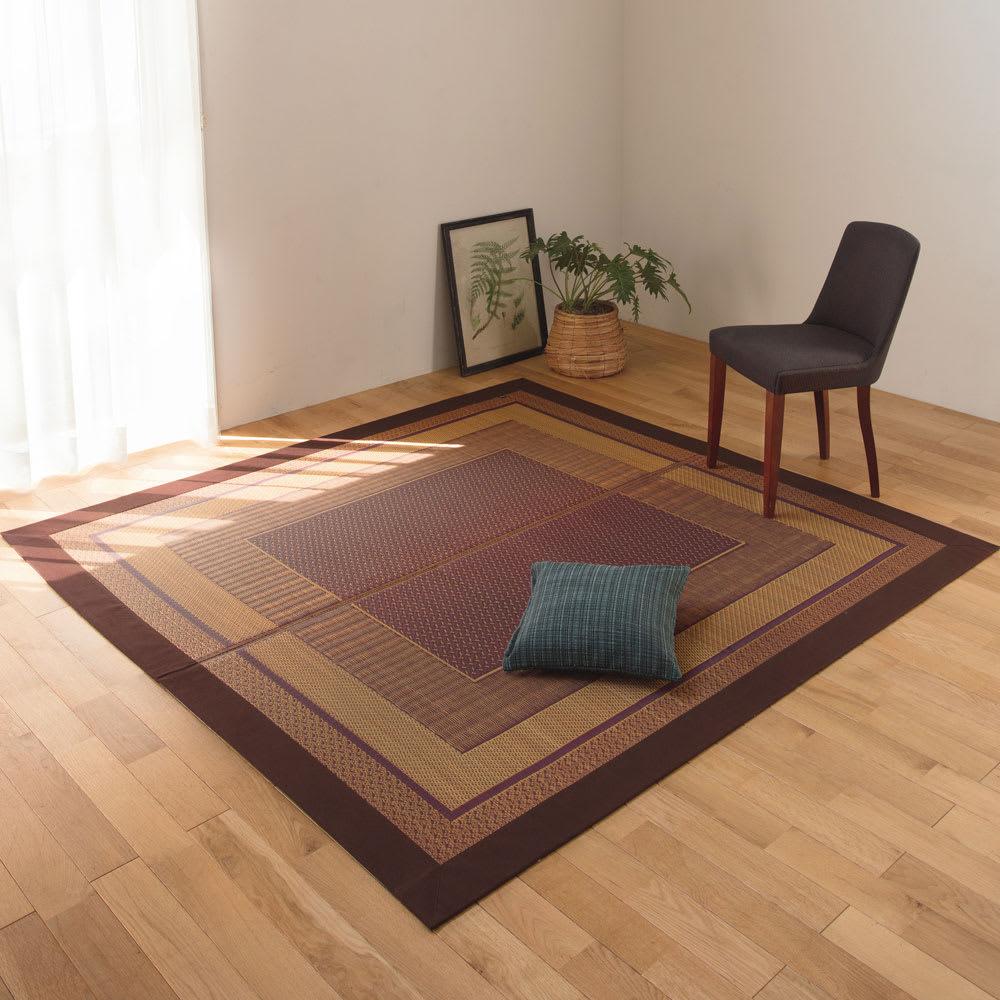 裏つき・太べり約191×300cm(紋織りい草ラグ〈ランクス〉) 775334