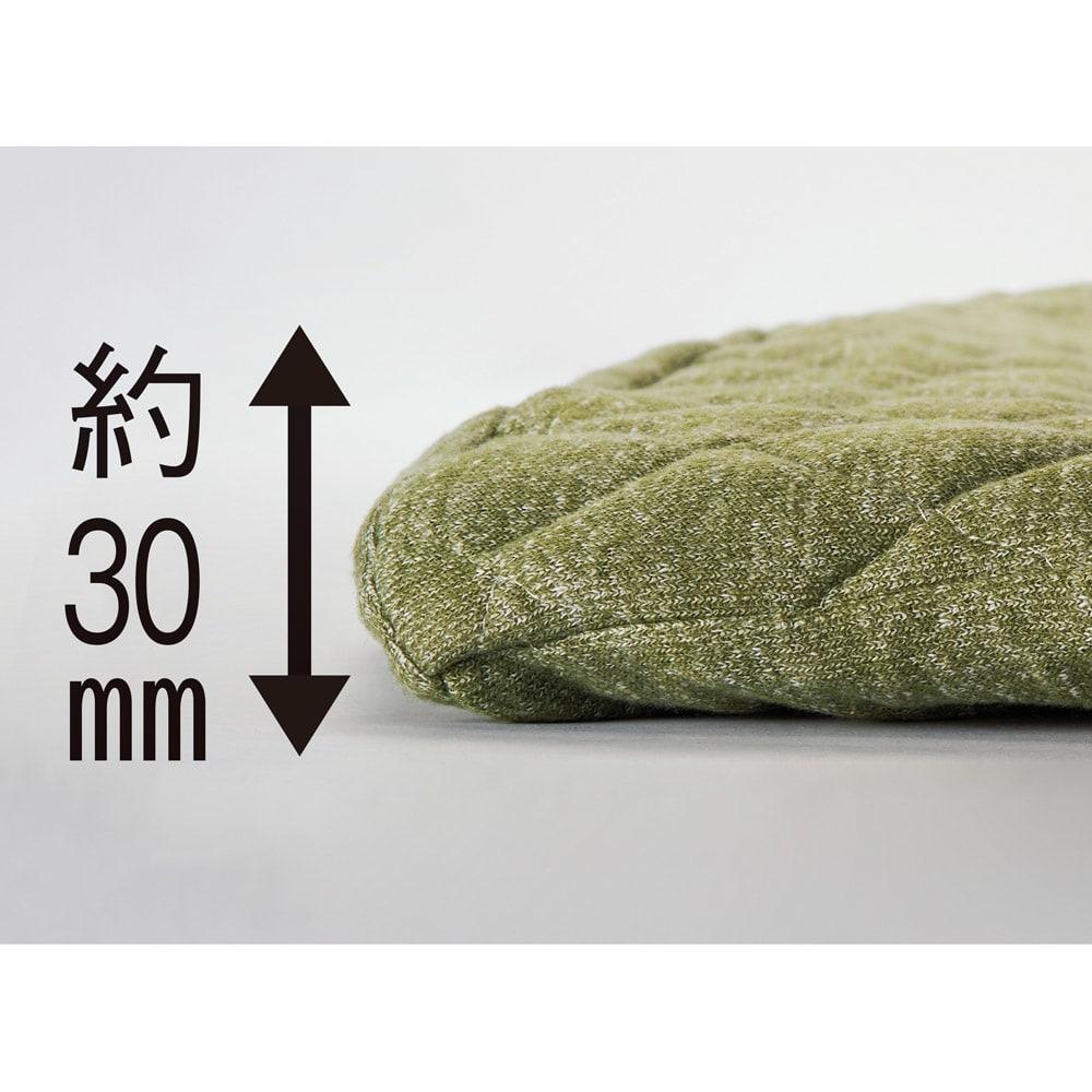 メランジラグカバーセット 抗菌ウレタン+ふわふわカバーで厚さ約30mmのボリューム感に!お子様のいるご家庭の防音対策にもおすすめです。