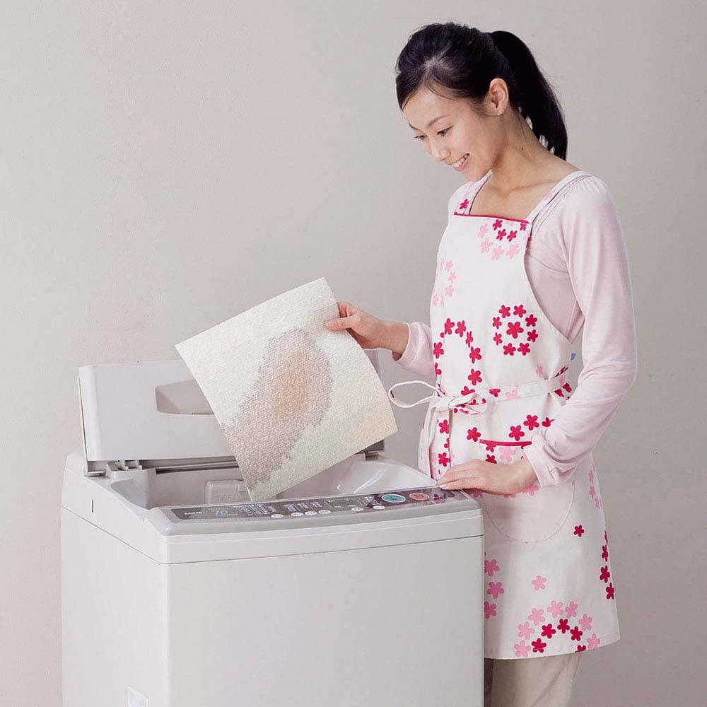 カテキン消臭置くだけタイルマット 約45×45cm 同色10枚組 洗濯機で洗うことができます。