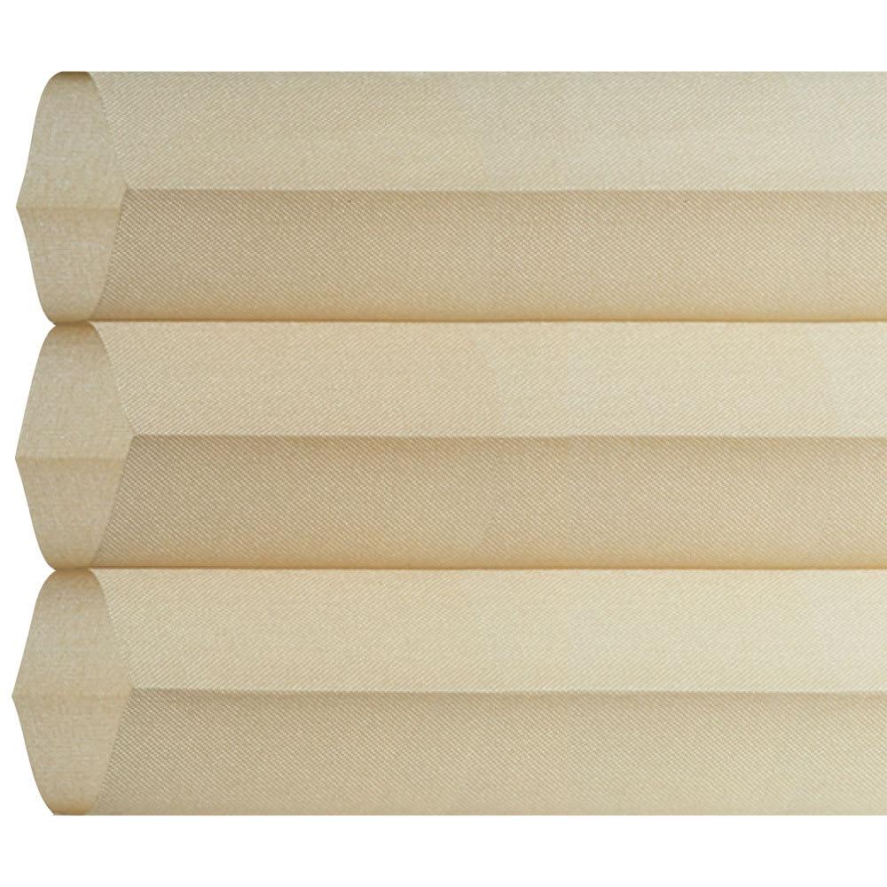 ハニカム構造の小窓用シェード(つっぱりポール付き) (イ)ベージュ