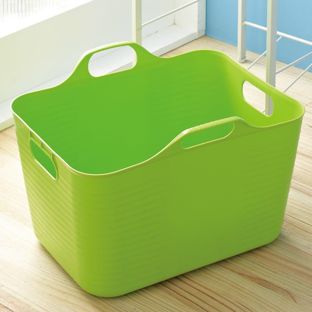 洗濯物の仕分けに便利 大きなバスケットのランドリーワゴン 3段 バスケットは単体でも便利にお使いいただけます。