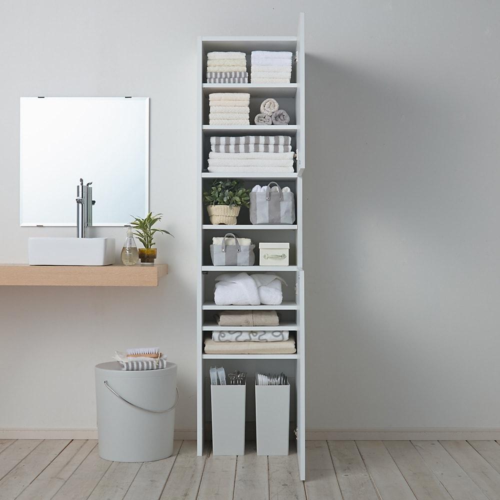 組立不要 自由に使える快適収納庫 幅45奥行35cm 洗面所のタオル収納や衣類収納に。