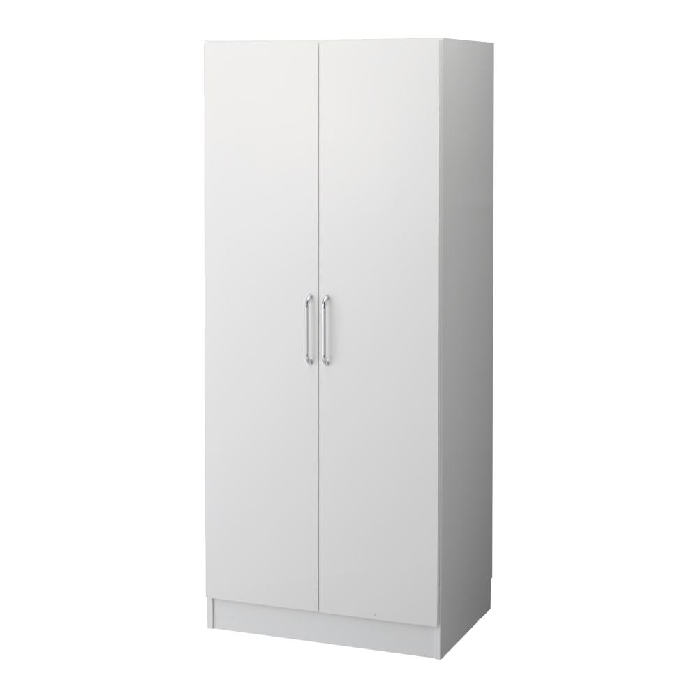 組立不要 たっぷりハウスキーピング収納庫 幅75・奥行55cm シンプルなデザインはどんな場所にでも設置ができます。