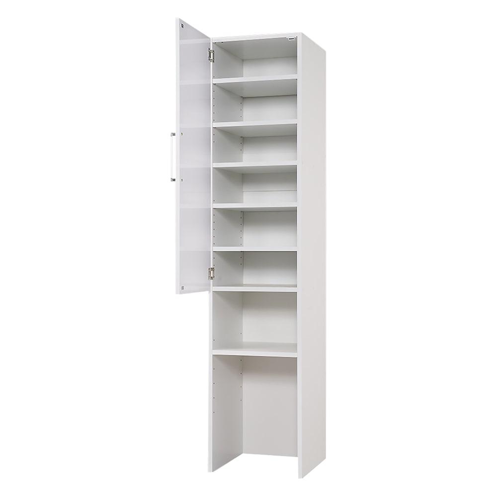 ゴミ箱上を活用できる下段オープンすき間収納庫 幅40cm (左開き取付時)