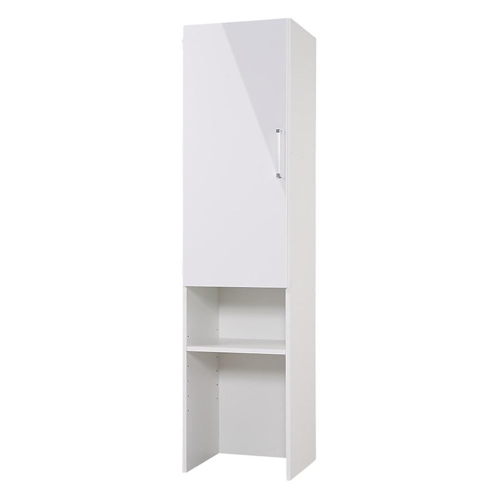 ゴミ箱上を活用できる下段オープンすき間収納庫 幅45cm (左開き取付時)