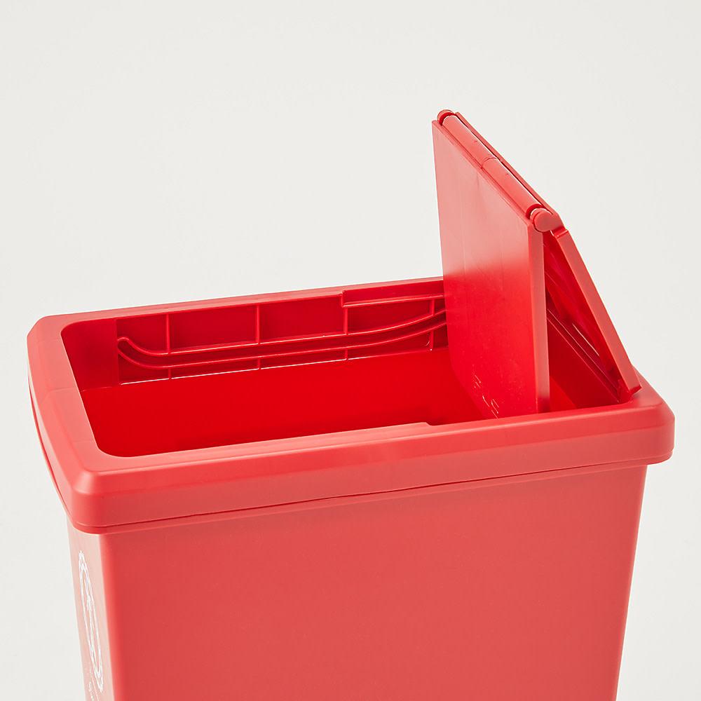 フタスライド式ゴミ箱 フタはスライド式で開閉します。
