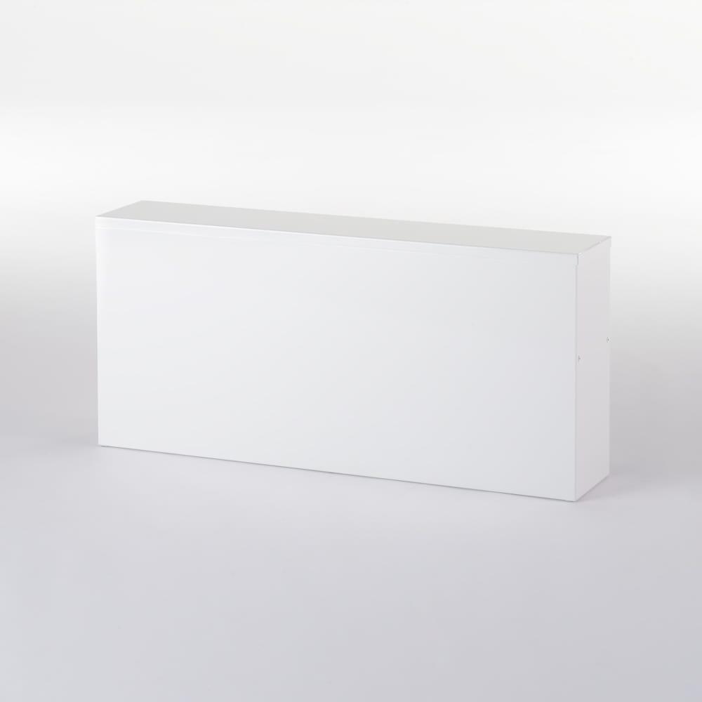 手元が隠せるカウンター上収納 幅75cm 美しく清潔感のある裏面。