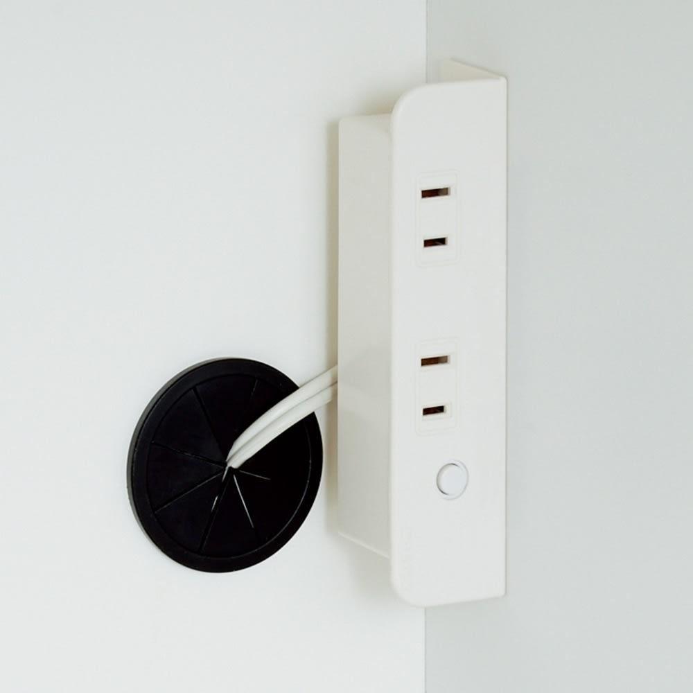 幅1cmオーダーオールインワン引き戸シリーズ 家電収納タイプ 板扉 幅100~110cm 家電の使用を考えたコンセント2口計1500W2個付き。