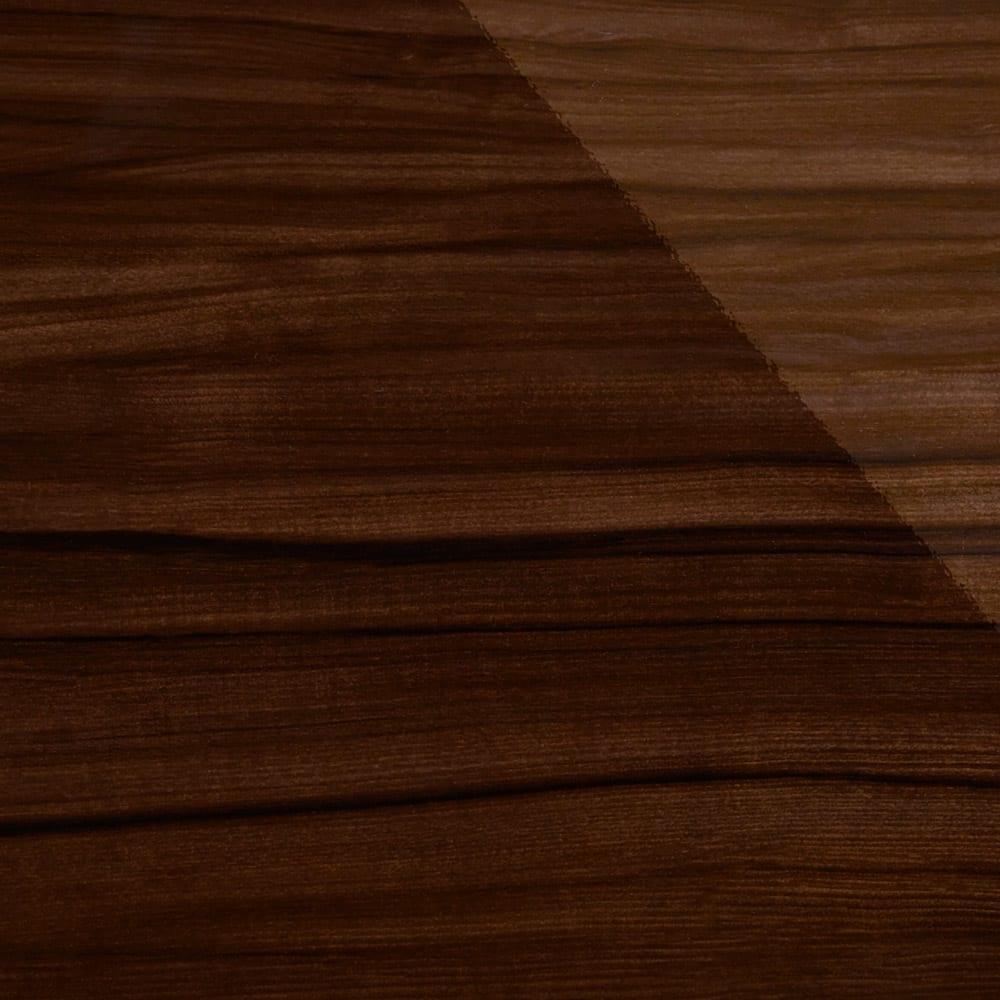 幅オーダー光沢カウンターシリーズ 扉引き出しタイプ ロータイプ(高さ87cm) 幅80~160cm(幅1cm単位オーダー) (イ)ダークブラウン シックながら、美しい木目が柔らかさを演出。輝きが一層の高級感を添えます。