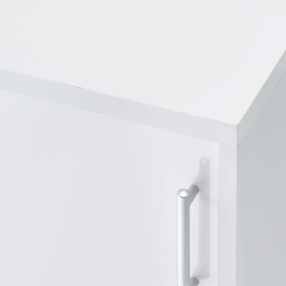 高さ60cm!カウンターダイニング下に納まる収納庫 引き戸 幅79奥行25cm (ア)ホワイト