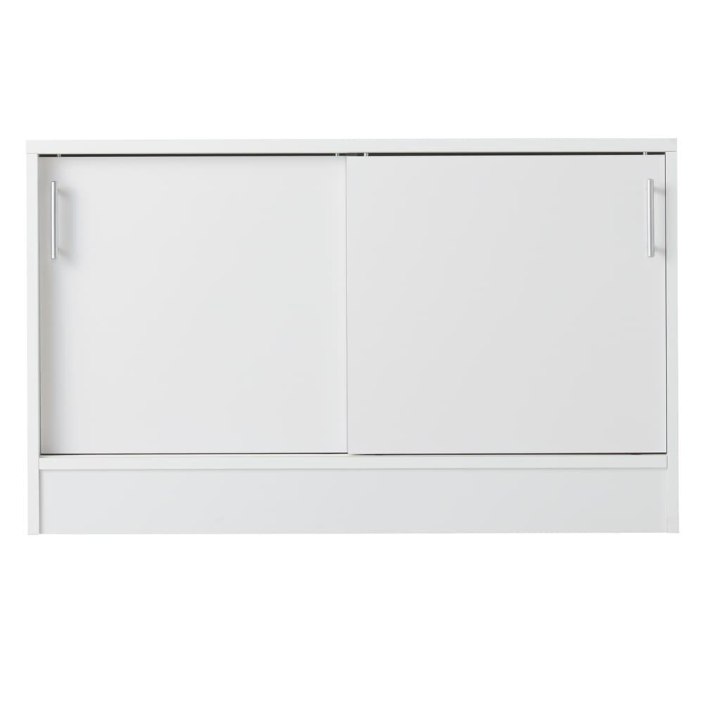 高さ60cm!カウンターダイニング下に納まる収納庫 引き戸 幅119奥行35cm (ア)ホワイト ※写真は引き戸幅99cmタイプです。