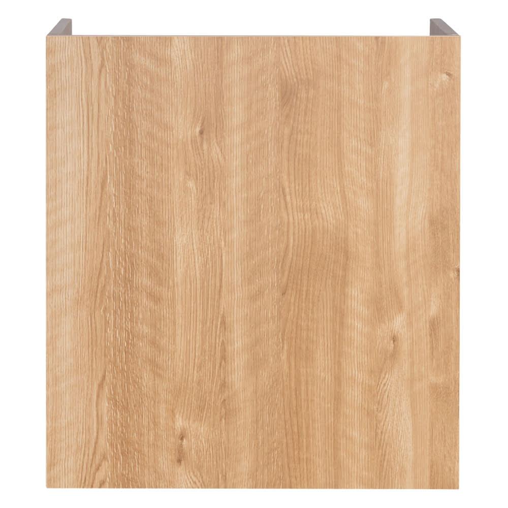 隠せるカウンター下収納 棚タイプ 幅59高さ66cm (ア)ブラウン背面