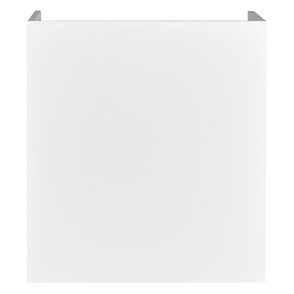隠せるカウンター下収納 棚タイプ 幅59高さ66cm (イ)ホワイト背面