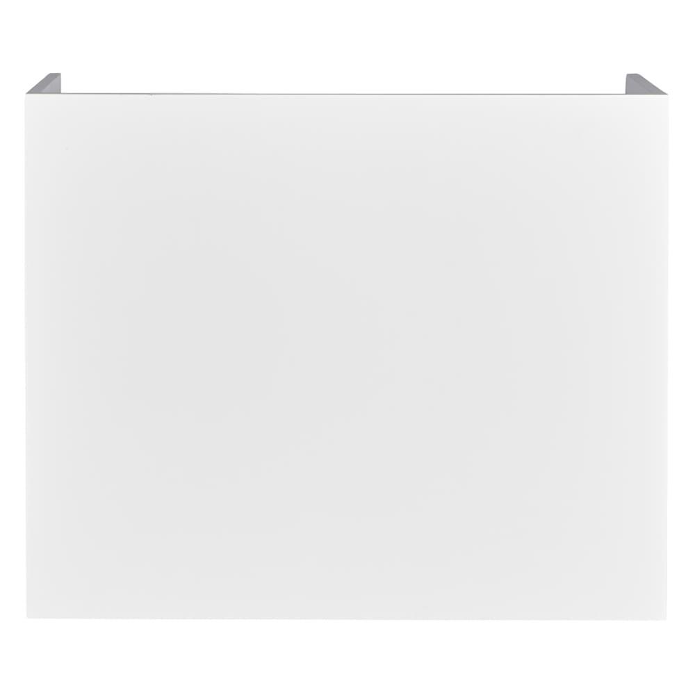隠せるカウンター下収納 棚タイプ 幅79高さ66cm (イ)ホワイト背面