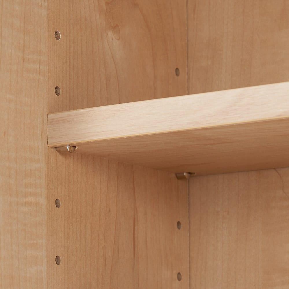 幅・高さサイズオーダーカウンター下収納庫 引き戸収納庫 奥行21.5cmタイプ 幅60~150cm・高さ71~100cm(1cm単位オーダー) 棚板は可動式で収納物に合わせて細かく調整が可能です。
