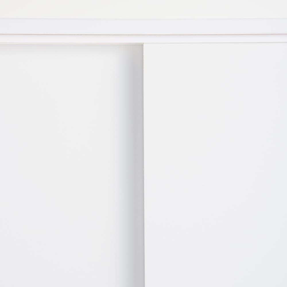 幅・高さサイズオーダーカウンター下収納庫 引き戸収納庫 奥行21.5cmタイプ 幅60~150cm・高さ71~100cm(1cm単位オーダー) (ア)ホワイト