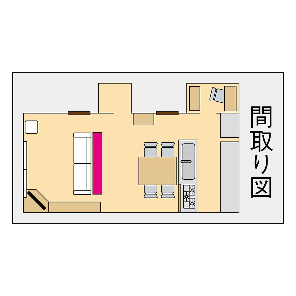 ソファ後ろ引き戸収納ラック 幅120cm 奥行29.5cm。狭い場所にも置けて収納スペースができます。