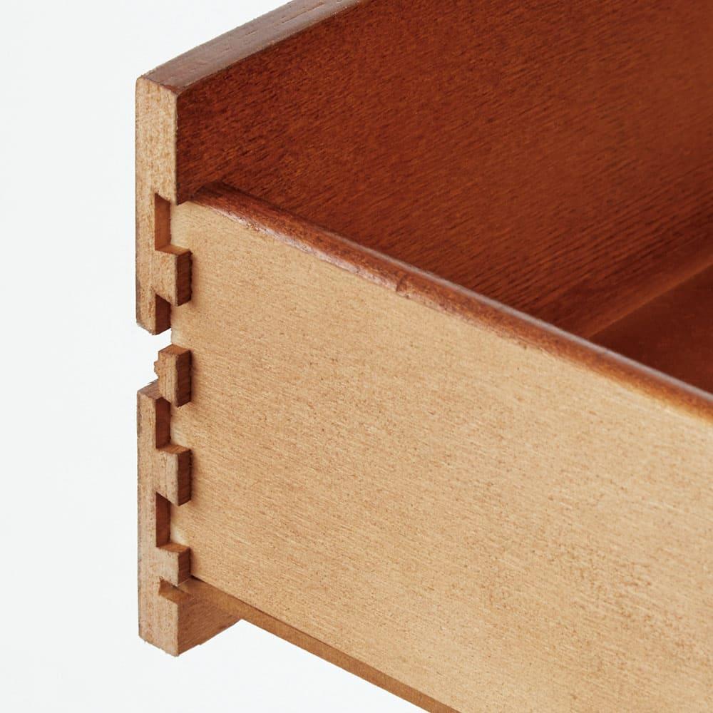 イタリア製猫脚シリーズ コンソールデスク 引き出しは頑丈なあり組み構造。