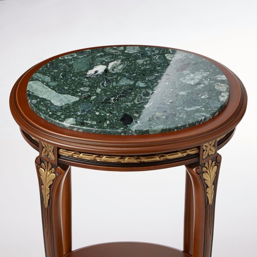 イタリア製猫脚シリーズ 工大理石天板サイドテーブル